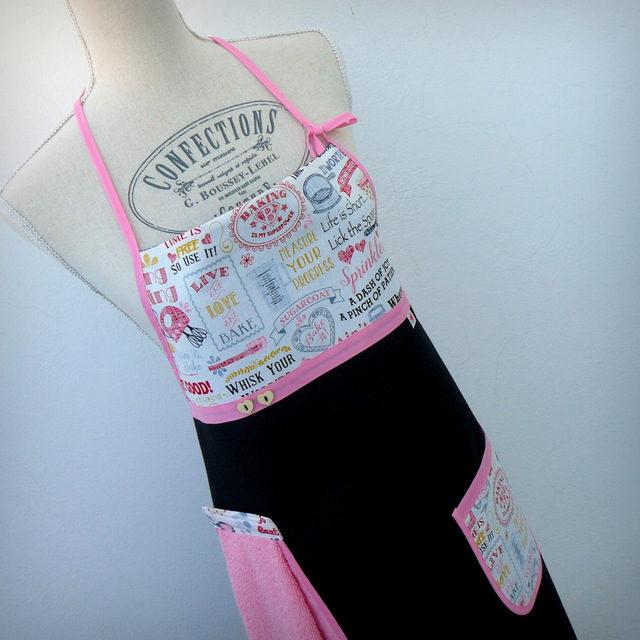 """Delantal QuitayPon """"Baking pink"""" – en stock"""