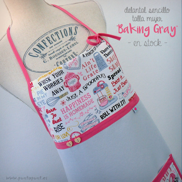 "Delantal para chica ""Baking gray"" – en stock"