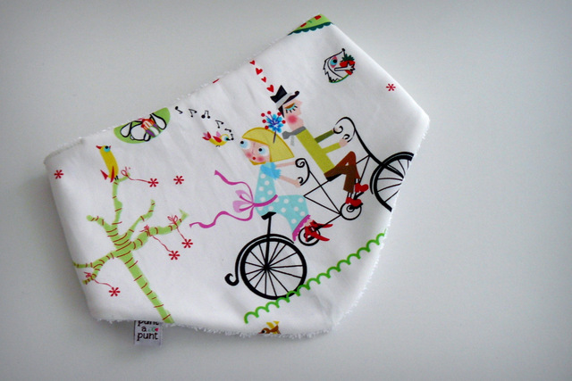 bandana de rizo para bebe amor en bicicleta en stock punt a punt-002