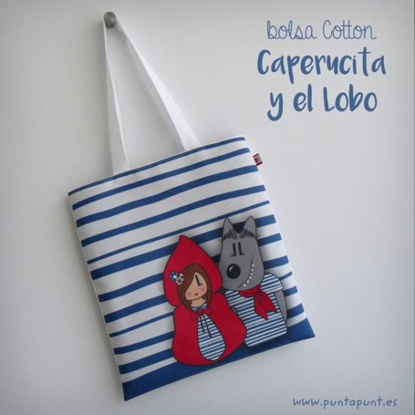 Bolsa Cotton «Caperucita y el lobo»- surtidas