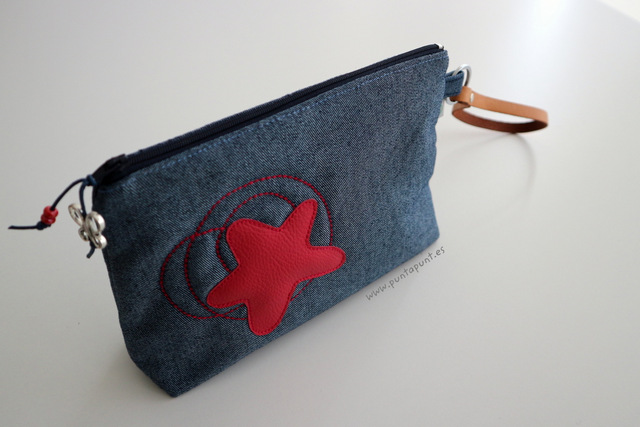 bolso de mano tejano modelo estrella en stock punt a punt 112017-001