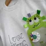 set infantil de camiseta personalizada y ranita love monster punt a punt-003
