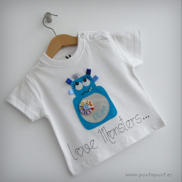 Set de camiseta de bebé y ranita «Love Monsters»