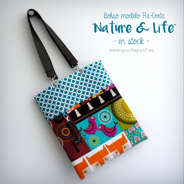 bolso basico con doble asa recorte nature and life en stock punt a punt