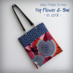 bolso de mujer modelo recorte pop flowers blue en stock punt a punt