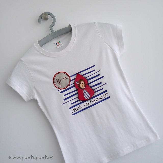 camiseta de caperucita personalizada con nombre punt a punt