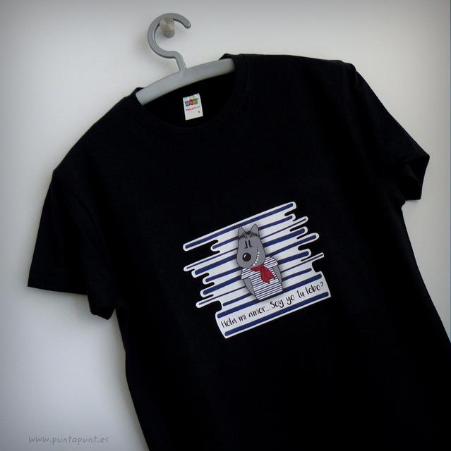 Camiseta Caperucita o Lobo «¿Dónde vas Caperucita?»