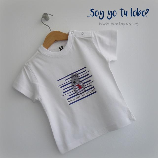 camiseta infantil caperucita soy yo tu lobo punt a punt-001