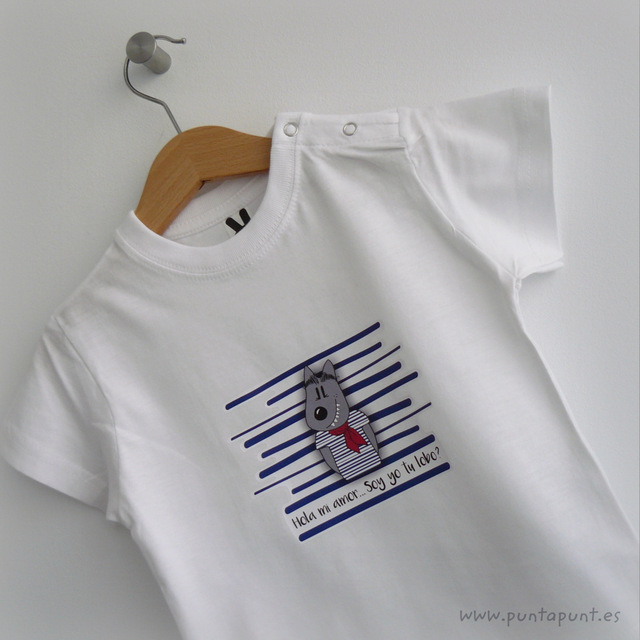 camiseta infantil caperucita soy yo tu lobo punt a punt