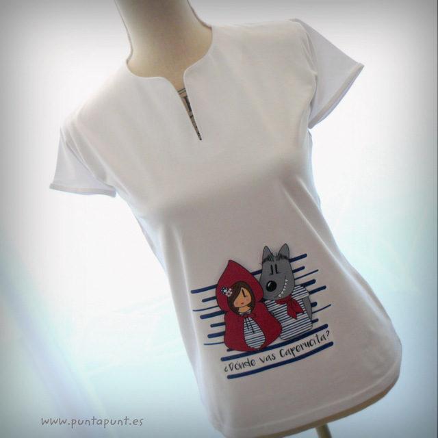 Camiseta de Caperucita con Lobo