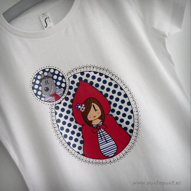 Camiseta Caperucita modelo camafeo
