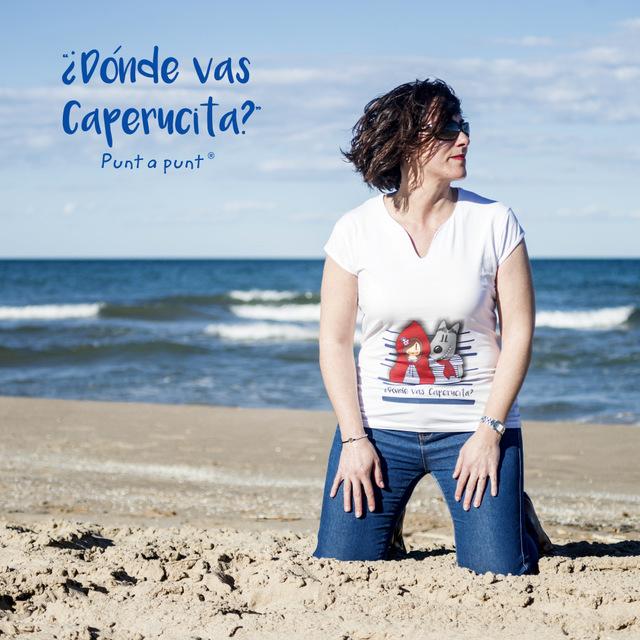 imagen web bolsa cotton y camiseta donde vas caperucita punt a punt-004