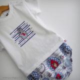 set de camiseta y ranita para bebe caperucita y el lobo punt a punt-001