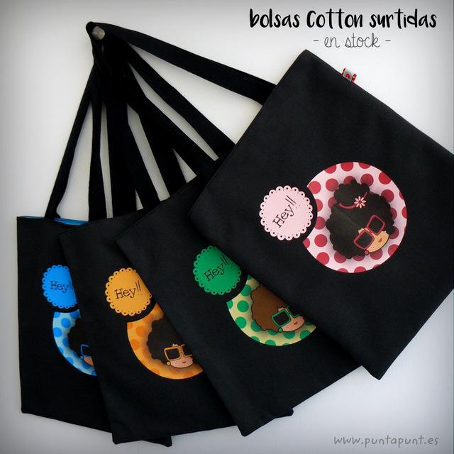 bolsas cotton nicca disponibles en stock punt a punt