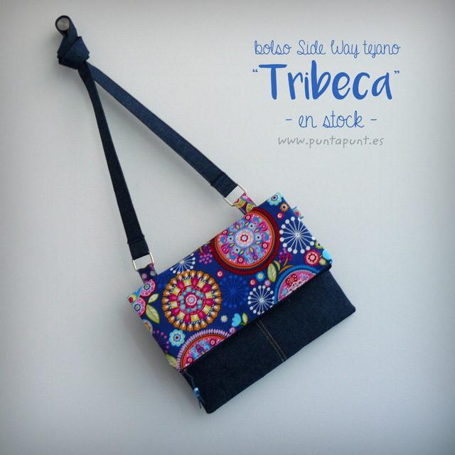 bolso tejano sideway tribeca azul en stock punt a punt