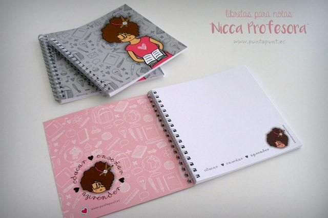 Pack 3 libretas o set con estuche personalizado «Nicca Profesora» – en stock