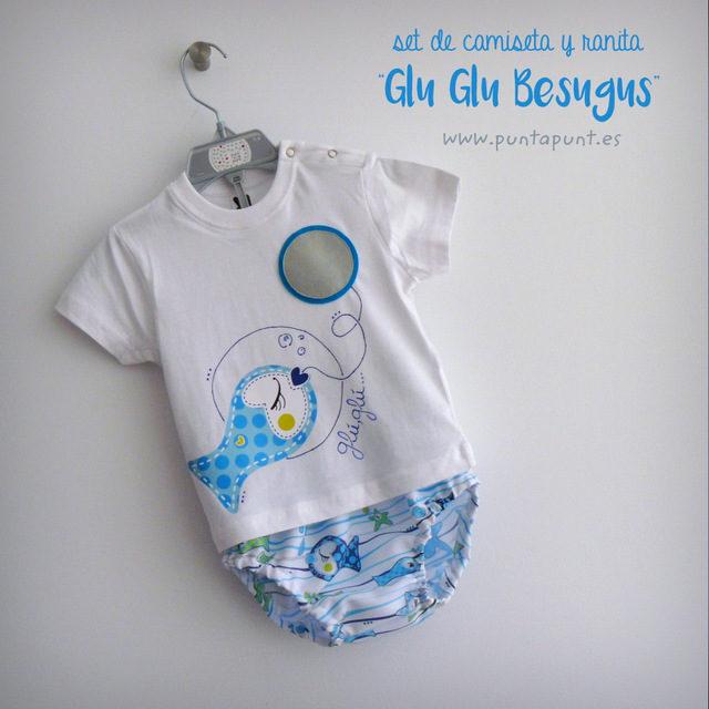 "Set de camiseta y ranita ""Glu·Glu Besugus…"""