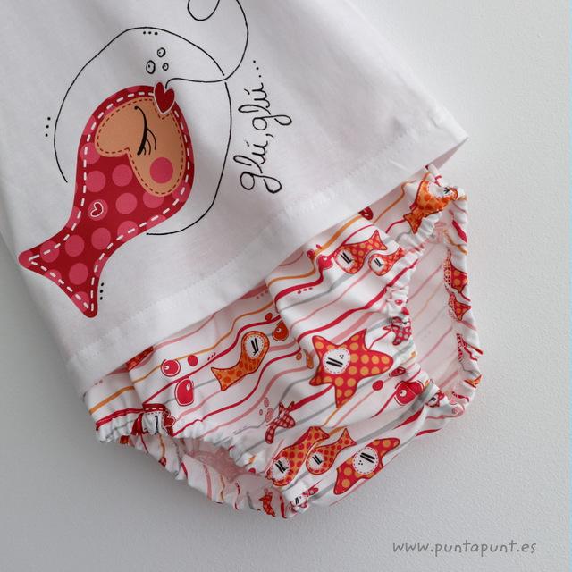 set de camiseta y ranita glu glu besugus rojo punt a punt-001