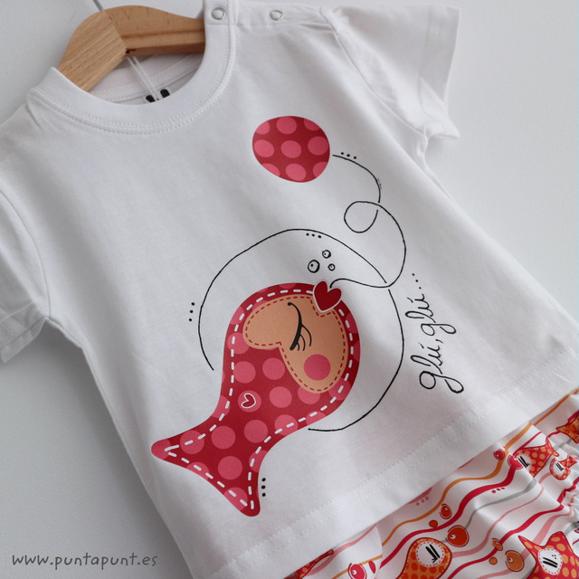 set de camiseta y ranita glu glu besugus rojo punt a punt-002