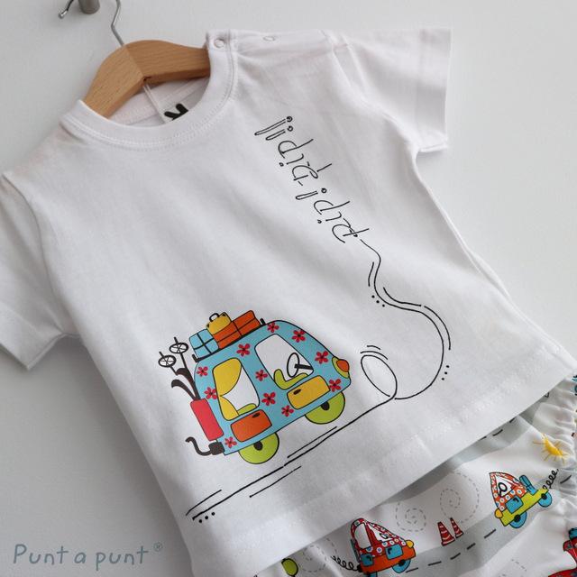 set de camiseta y ranita de bebe vamos de paseo punt a punt-002