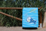 toalla de playa pezquenines azul o rosa punt a punt-011