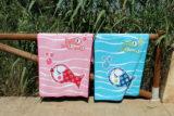 toalla de playa pezquenines azul o rosa punt a punt-012