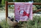 toalla de playa pezquenines azul o rosa punt a punt-014