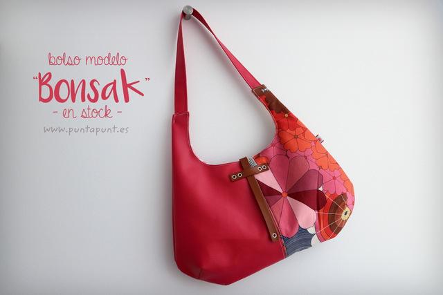 bolso modelo bonsak rosa en stock punt a punt