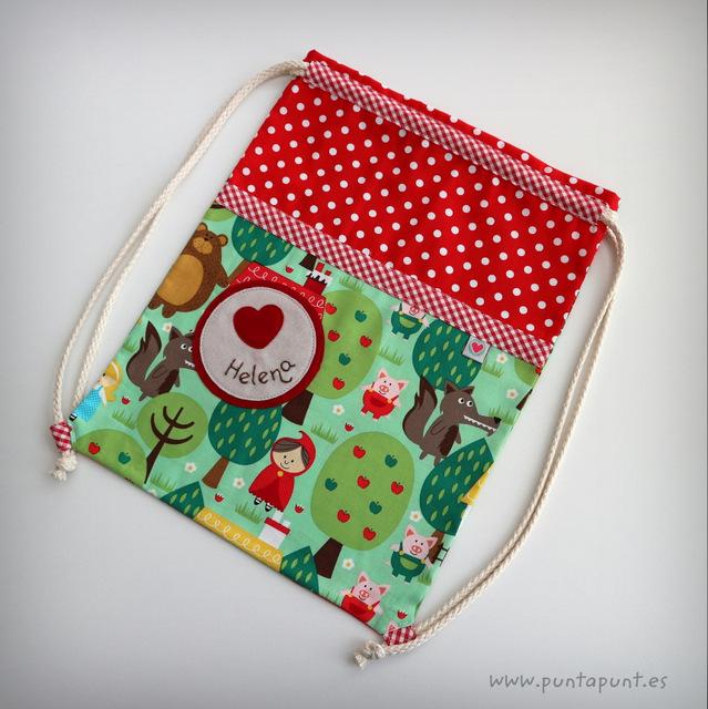 saco y mochila escolar personalizado para almuerzo punt a punt -001