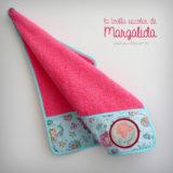 toalla escolar de color personalizada punt a punt
