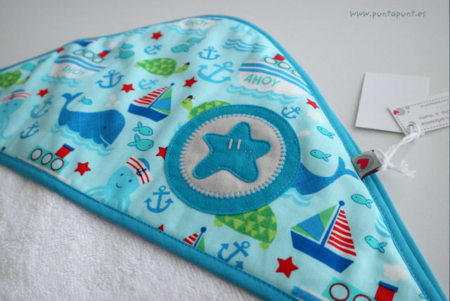 Capa de baño para bebé «Estrella azul» – en stock