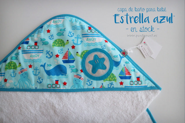 "Capa de baño para bebé ""Estrella azul"" – en stock"