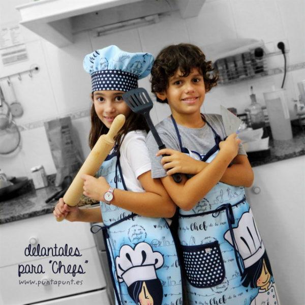 Delantal «Chef» para todas las edades – en stock
