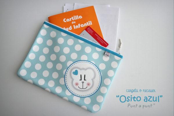 Carpeta documentación o neceser infantil «Osito» en simil piel – en stock