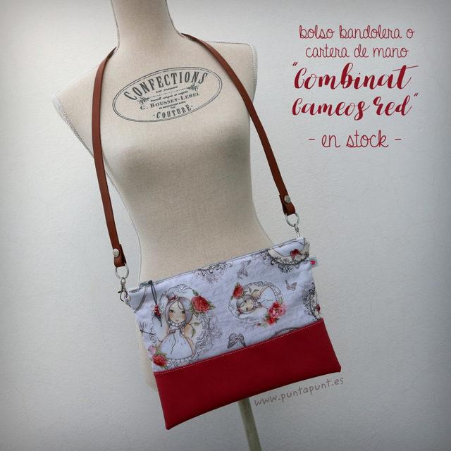 "Bolso bandolera ""Combinat Cameos Red"" – en stock"