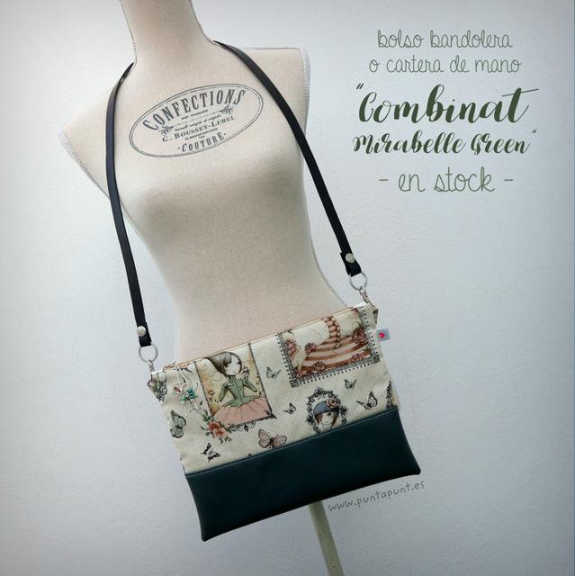"Bolso bandolera ""Combinat Mirabelle green"" – en stock"