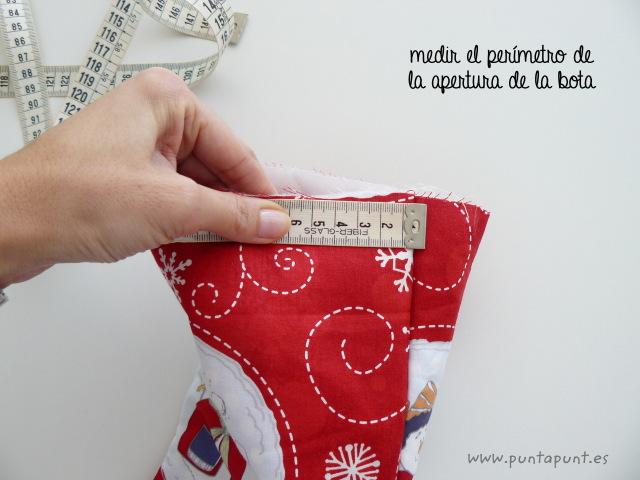 tutorial costura paso a paso bota navidad punt a punt-009
