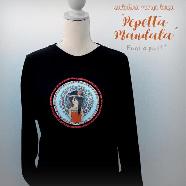 camiseta sudadera manga larga pepetta mandala punt a punt-001