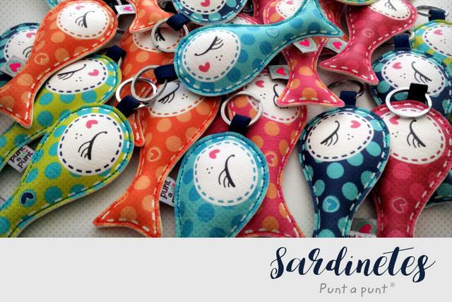 """Llaveros surtidos """"Sardinetes"""" – en stock"""
