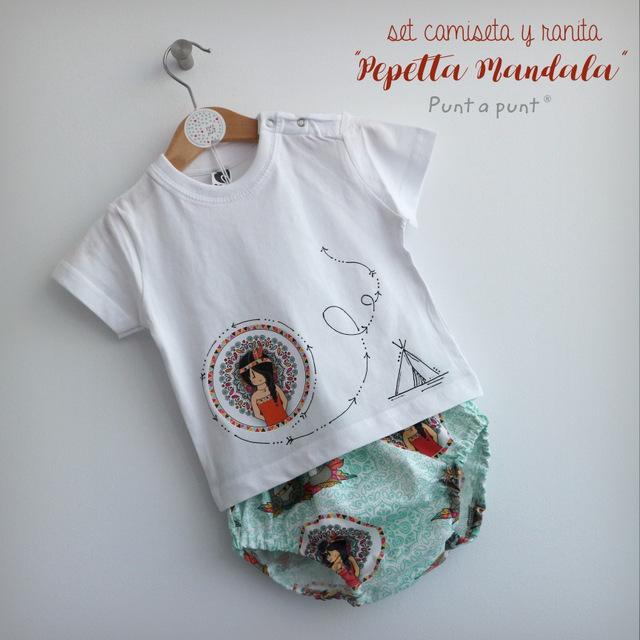 set de camiseta y ranita bebe pepetta mandala punt a punt-001