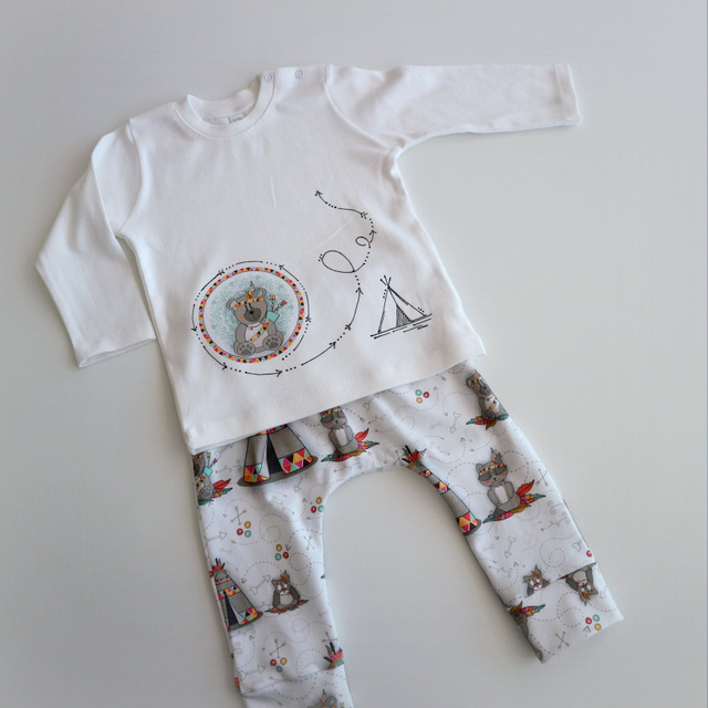 set de camiseta y ranita pantalon bebe tipi tipi sito punt a punt-003