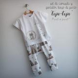 set de camiseta y ranita pantalon bebe tipi tipi sito punt a punt