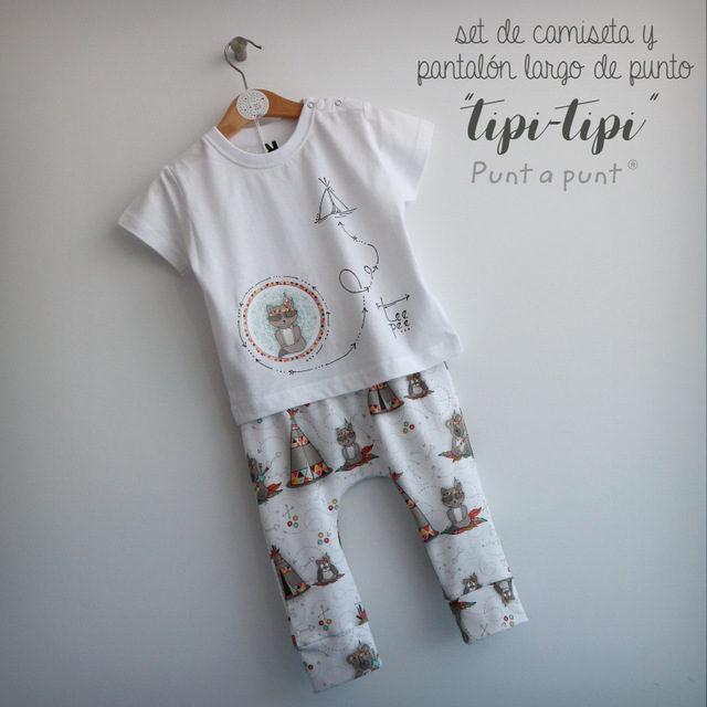 "Set de camiseta y pantalón de punto ""Tipi-tipi"""