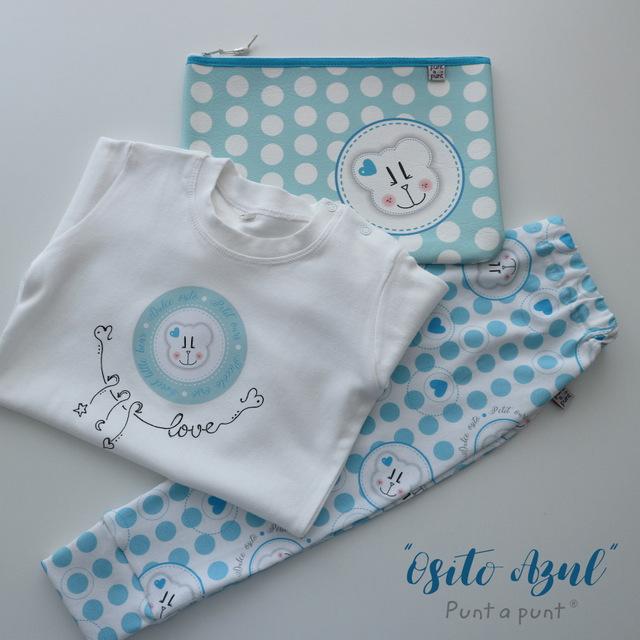 camiseta y pantalon largo de punto algodon osito punt a punt-010
