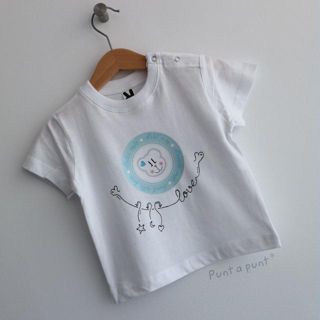set de camiseta y ranita bebe osito punt a punt-001