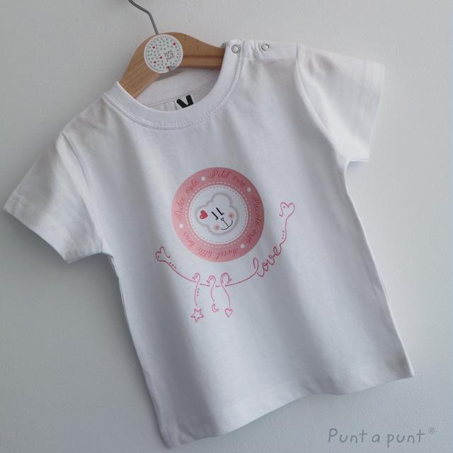 set de camiseta y ranita bebe osito punt a punt-003