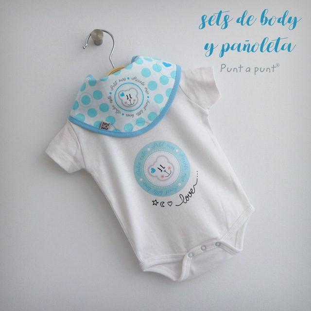 Body de bebé con pañoleta o bandana reversible