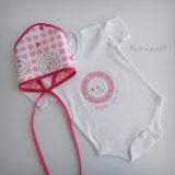 body personalizado de bebe con bandana a juego reversible punt a punt-002