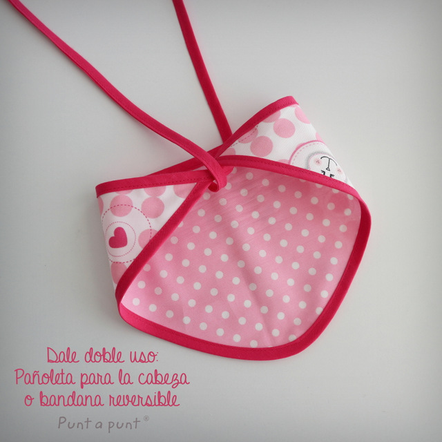 body personalizado de bebe con bandana a juego reversible punt a punt-003