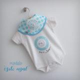 body personalizado de bebe con bandana a juego reversible punt a punt-009